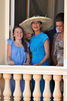 Princess Alexandra, her mother Princess Caroline and Caroline's sister Princess Stephanie/  Monaco royalty
