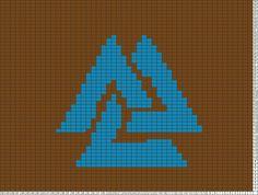 Tricksy Knitter Charts: Valknut by jilliuscaesar