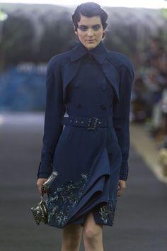 Fashion show couture ON AURA TOUT VU autumn/winter 2014/2015. Look 2 #hautecouture #fashionweek #couturefashionshow #paris #luxe #winter2014 #h2o #woman #fashion #broderies  #yassensamouilov #liviastoianova #models #cristaux  #style #moderncouture #clothes #uniquefashion #onauratoutvu #frenchfashion #water #cristal #coat #blue #embroidery #2014 #2015 #garden #palaisroyal #paris #france #trenchcoat #preppy #waterpurse #funnyaccessory
