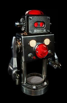 The lovely 'ROMEO' +Brauer unique piece - unique robot - Sfr. 2'800.-  28x20x43cm @madgallery