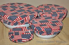 Reusable Bowl Covers Picnic Patriotic by TailaCustomDesigns, $25.00