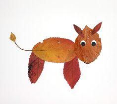 Dyr lavet ud af blade