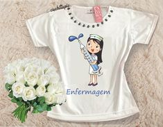 Baby Look Customizada - Enfermagem Onesies, Shirt Designs, Apps, T Shirt, Clothes, Fashion, Nursing Pictures, Nurse Stuff, Home Outfit