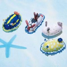 Plush Animals, Animals And Pets, Fuzzy Felt, Sea Snail, Sea Slug, Ocean Creatures, Cute Friends, Toy Craft, Xmas Ornaments