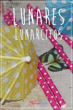 Pajitas de papel con lunares y sombrillas de papel con lunarcillos 50042ad5d96