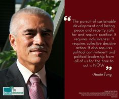 Anote Tong is the former president of the Republic of Kiribati (2002 – 2016), under his presidency he created the Phoenix Islands Protected Area As a strong climate change advocate and ocean conservationist he has been working towards raising global awareness on the threat posed by climate change and rising sea levels.Let us listen and take action! #MotivationMonday #NoCompromise #30YearsofDilmah #IslandNation #ClimateChange #Adaptation #Mitigation