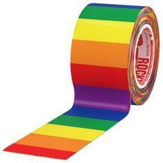 """RockTape 2"""" Single Rolls - Rainbow"""