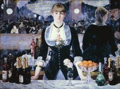 From Art History 101, Édouard Manet, A Bar at the Folies-Bergère (1881-82), Oil on canvas, 37 3/4 × 51 1/4 in