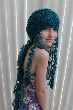 Crochet Jellyfish Hat by MountainSquidArts on Etsy