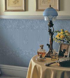 Dado Gothic Panel Luxury Vinyl Wallpaper at GoWallpaper UK Vinyl Wallpaper, Anaglypta Wallpaper, Wallpaper Stores, Embossed Wallpaper, Wallpaper Panels, Home Wallpaper, Textured Wallpaper, Painting Wallpaper, Victorian Hallway