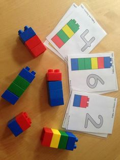 Students can copy lego patterns from these printable cards. Montessori Activities, Kindergarten Activities, Preschool Activities, Lego Duplo, Lego Math, Indoor Activities For Kids, Toddler Activities, Lego Themed Party, Early Years Maths