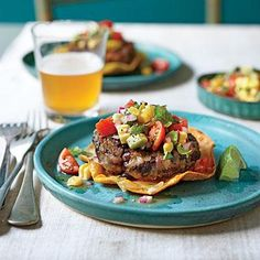Black Bean Cakes with Avocado-Corn Salsa | Avocado-Corn Salsa gives this meatless meal a fresh spin. You'll love the flavor combination of the hearty black bean cake and the light flavors of the salsa. | SouthernLiving.com