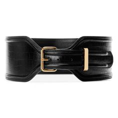 Pin for Later: It's Here, It's Here: Shop Altuzarra For Target Altuzarra For Target Croc Effect Belt in Black ($30)