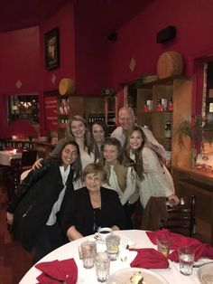 My mom, Haley & her friends out for Valentine's dinner.  Am I the luckiest man alive or what!