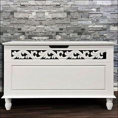 White storage bench #wooden box bathroom storage cabinet #chest #settee furniture,  View more on the LINK: http://www.zeppy.io/product/gb/2/121957346749/