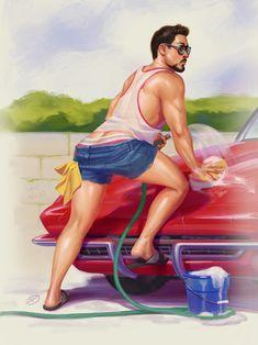 David Talaski Draws — Hand wash only ;-P . FINALLY finished this guy...