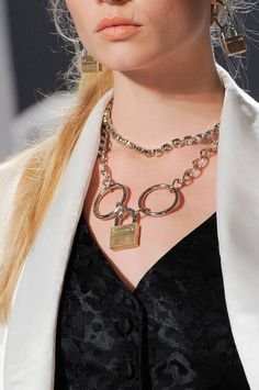 Spring 2014 Jewelry Trends - Best Jewelry Spring 2014 - Harper's BAZAAR Love the Lock and big rings.