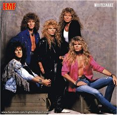 Whitesnake ~ met them in the mid 80s and was invited to go on tour with them. Why, oh why didn't I go?!?! LOL!