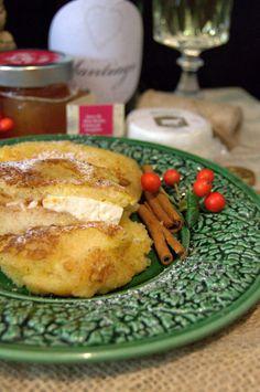Receita: Rabanadas de Alvarinho recheadas com queijo de cabra e doce de pêra | SAPO Lifestyle