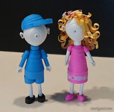 Quilled Little People