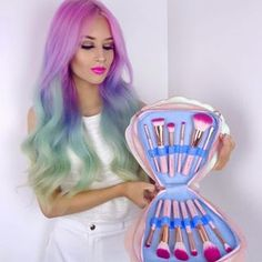 Vibrant makeup brushes, tools and accessories. Hand finished, vegan and cruelty free. Apply your makeup with works of art.