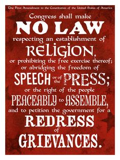 The first amendment is extremely important. R - Religion A - Assembly S - Speech P - Press P - Petition These are 5 freedoms given to the people of the U. from the first amendment. Freedom Of The Press, Your Freedom, Freedom Of Speech, Freedom In Christ, Freedom Of Religion, Cool Poster Designs, Indian Spirituality, Do Not Be Deceived, Constitutional Law