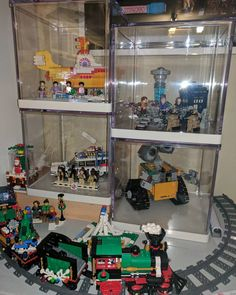 Loving my new display area! #lego #display #legoideas #walle #ghostbusters #beatles #drwho #afol #brick #bricktease LEGO