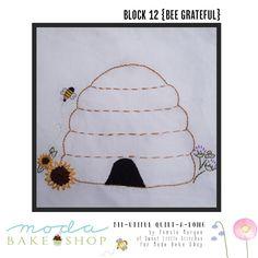 Bee-utiful QAL {Block 12 – Bee Grateful}