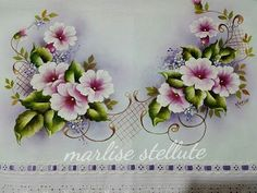 Arte Popular, Fabric Painting, Art World, Cross Stitching, Diy And Crafts, Floral Wreath, Wreaths, Embroidery, Crochet