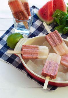 Watermelon Mojito Ice Pops