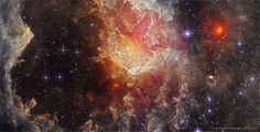 """just–space: """"Stars and Dust Pillars in NGC 7822 from WISE. js"""""""