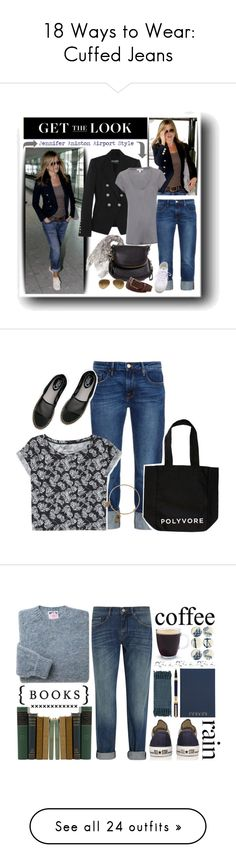 """""""18 Ways to Wear: Cuffed Jeans"""" by polyvore-editorial ❤ liked on Polyvore featuring cuffedjeans, waystowear, Balmain, James Perse, Alexander McQueen, Frame Denim, Superga, Tom Ford, St. Tropez and Ray-Ban"""