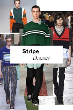 These aren't your standard fare pinstripes or Breton bars. Striped knits for Spring have taken on a super-sporty feel, in a variety of widths and decidedly vibrant colors.