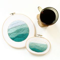 Mini Mediterranean Sea - Hand Stitched Nautical Embroidery Hoop Art (42.00 USD) by SarahKBenning