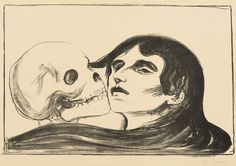 The Kiss of Death by Edvard Munch