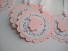 Baby Shower Favor Tags  One Dozen  Baby Girl  by OneCuteNursery, $10.00