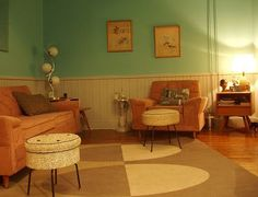 The 177 best 1950s home decor images on pinterest - 1950 s living room decorating ideas ...