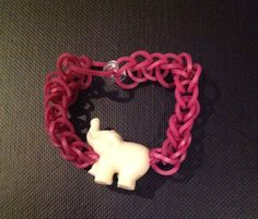 Rainbow Loom fishtail with plastic elephant bead (bead available at Michaels)