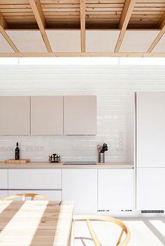 Cuisine Bois Carreaux de Metro Blanc  Wood White