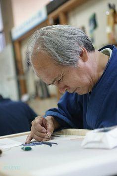 京刺繍、職人、刺繍職人/craftsman