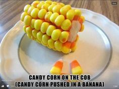 Candy Corn on the Cob!
