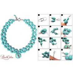 Kits available http://beadsonline.com.au/shop/Jewellery-Beading-Kit-Turquoise-Bird-Woven-Collar-Necklace.html
