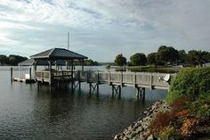 Common style dock and rip rap on Lake Norman NC