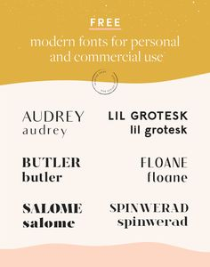 Free Modern Fonts for Commercial Use Free Typography Fonts, Modern Serif Fonts, Typography Layout, Free Modern Fonts, Lettering, Vintage Fonts Free, Minimalist Font, Business Fonts, Art Deco Font