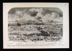 Frank Leslie Civil War Print - View of Andersonville Prison Georgia Confederate