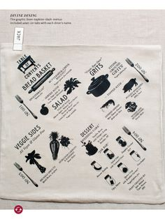 I think this menu is pretty clever! its a menu which is printed on a napkin! so it can be used for two things, A.) a MENU. B.) a NAPKIN!   #brilliantlybrilliantpeople