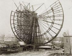 World's Fair Ferris Wheel construction, 1904 | Missouri History Museum