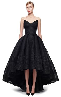 Embroidered Organza Gown by Zac Posen for Preorder on Moda Operandi clothes,fashion,My Style,Style, Look Fashion, Runway Fashion, Fashion Outfits, Black Tie Gown, Black Maxi, Looks Style, Beautiful Gowns, Dream Dress, Pretty Dresses