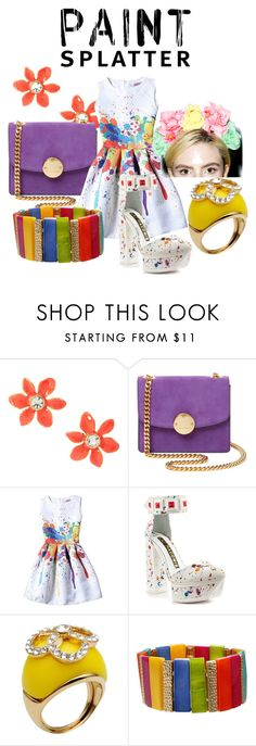 """""""Paint Splatter"""" by clippedkino on Polyvore featuring Kate Spade, Marc Jacobs, Kat Maconie, Nina Ricci, Mixit and Vox Populi"""
