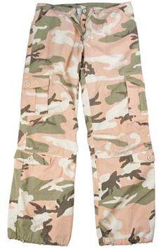 Womens Camo Pants Pink Camo Vintage Fatigue Pants Subdued Camo